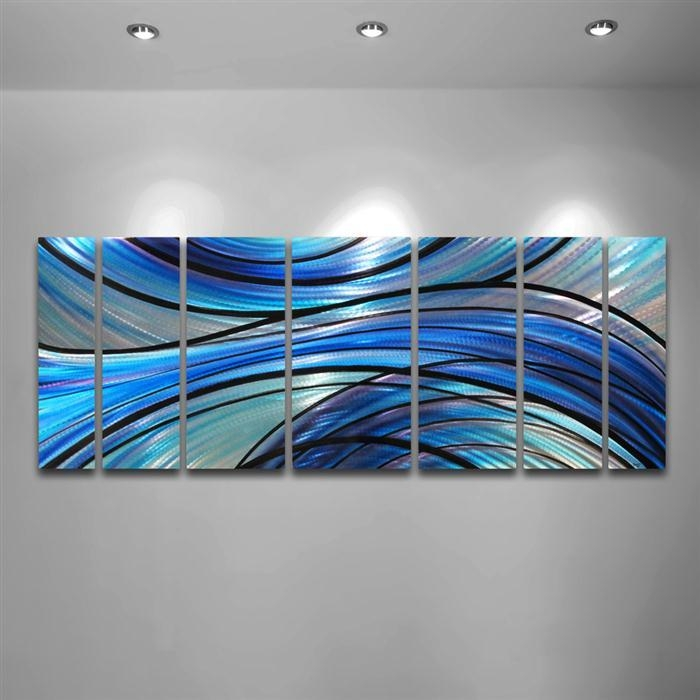 Blue Metal Wall Art Awesome Wall Art Decor For Abstract Wall Art In Blue Wall Art (Image 11 of 20)