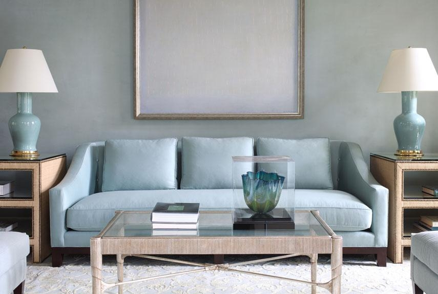 Blue Rooms – Decorating With Blue With Seafoam Green Couches (Image 4 of 20)