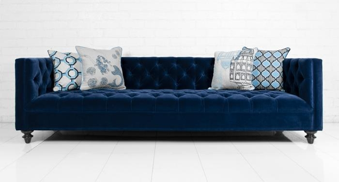 Blue Velvet Tufted Sofa – Products, Bookmarks, Design, Inspiration Inside Blue Velvet Tufted Sofas (View 3 of 20)
