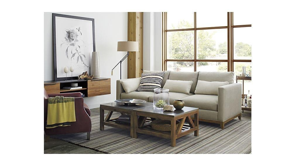 Bluestone Occasional Tables | Crate And Barrel In Crate And Barrel Sofa Tables (Image 5 of 20)