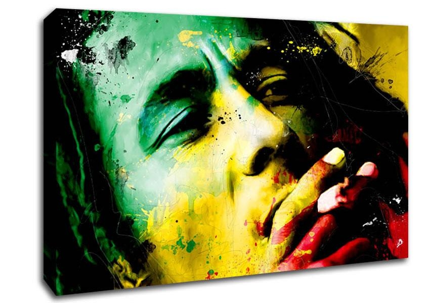Bob Marley Canvas Art | Wallartdirect.co (Image 10 of 20)