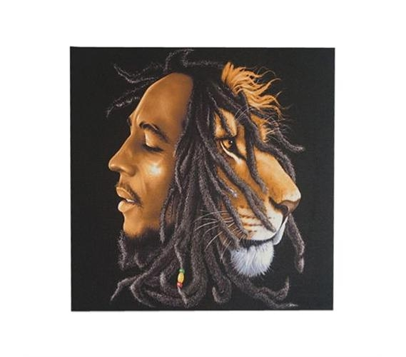 Bob Marley Lion Wall Canvas For Bob Marley Canvas Wall Art (Image 7 of 20)