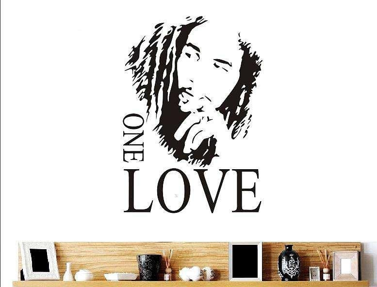 Bob Marley One Love Quote Wall Decal | Quotes | Wall Stickers With Regard To Bob Marley Wall Art (Image 11 of 20)