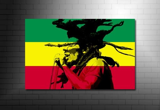 Bob Marley Print For Bob Marley Canvas Wall Art (Image 9 of 20)