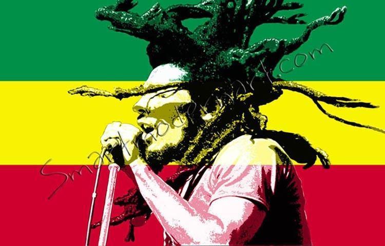 Bob Marley Print For Bob Marley Canvas Wall Art (View 14 of 20)