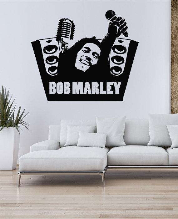 Bob Marley Wall Decals Art ~ Color The Walls Of Your House In Bob Marley Wall Art (Image 15 of 20)