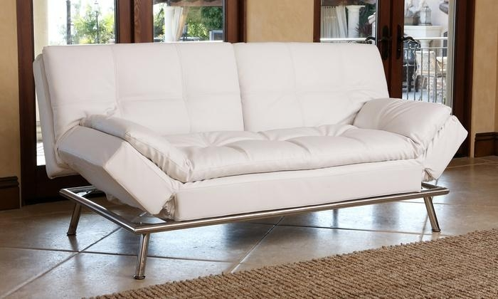Bonded Leather Euro Lounger | Groupon Goods Pertaining To Euro Loungers (View 3 of 20)