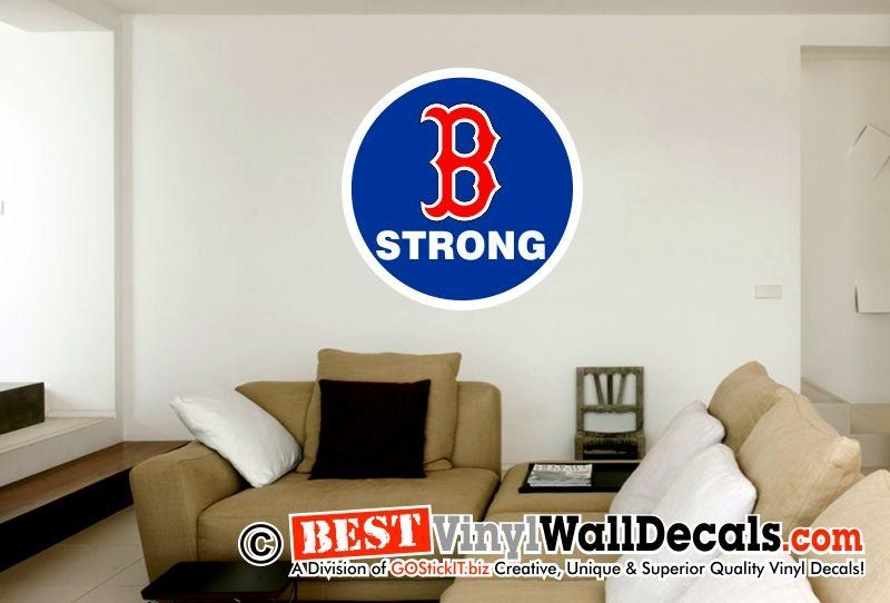 Boston Man Cave B Strong Digital Decal – Bestvinylwallart For Red Sox Wall Decals (View 9 of 20)