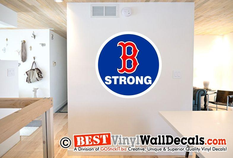 Boston Man Cave B Strong Digital Decal – Bestvinylwallart Throughout Red Sox Wall Decals (View 5 of 20)