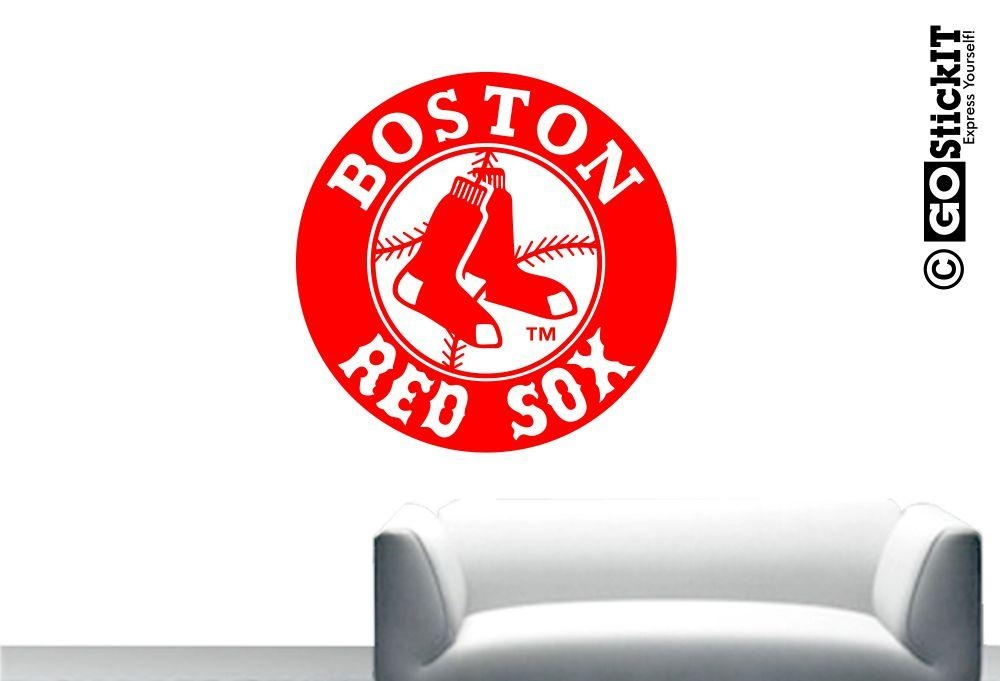 Boston Red Sox Circle Logo Wall Art Regarding Boston Red Sox Wall Art (Image 11 of 20)