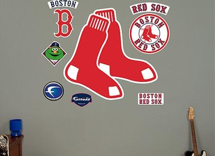 Boston Red Sox Classic Logo Wall Decal Shop Fathead For Boston Red For Red Sox Wall Decals (View 11 of 20)
