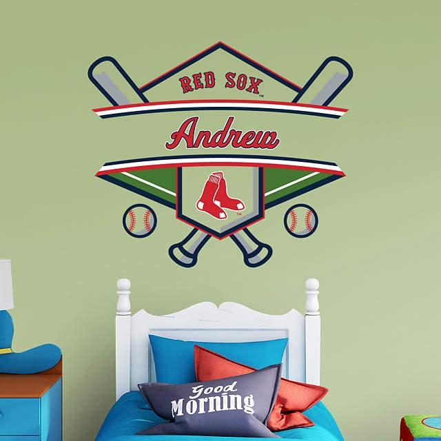 Boston Red Sox Personalized Name Wall Decal | Shop Fathead® For In Red Sox Wall Decals (View 2 of 20)