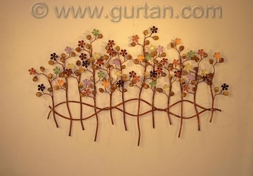 Botanical Metal Wall Art Metal Wall Sculpture Home Decor With Regarding Botanical Metal Wall Art (View 5 of 20)