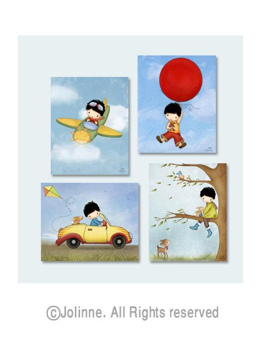 Boys Wall Art For Bedroom Art For Boys Room Kids Room Decor Throughout Children Wall Art (View 5 of 20)