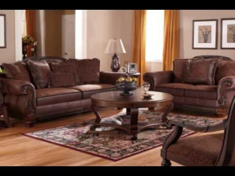 Bradington – Truffle Living Room Setashley Furniture – Youtube Regarding Bradington Truffle Sofas (Image 6 of 20)