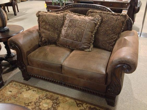 Bradington – Truffle #loveseat At Ashley #furniture In #tricities Intended For Bradington Truffle Sofas (Image 3 of 20)