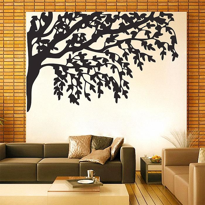 Branch Large Vinyl Wall Art Decal For Tree Branch Wall Art (Image 7 of 20)
