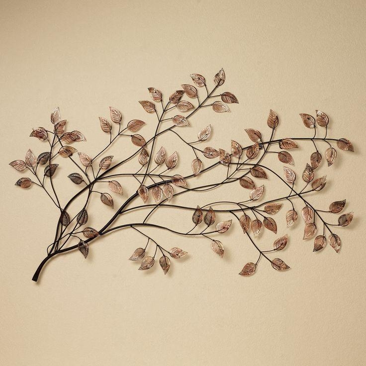 Branches At Sunrise Leaf Metal Wall Sculpture | Metal Wall Intended For Tree Sculpture Wall Art (Image 9 of 20)
