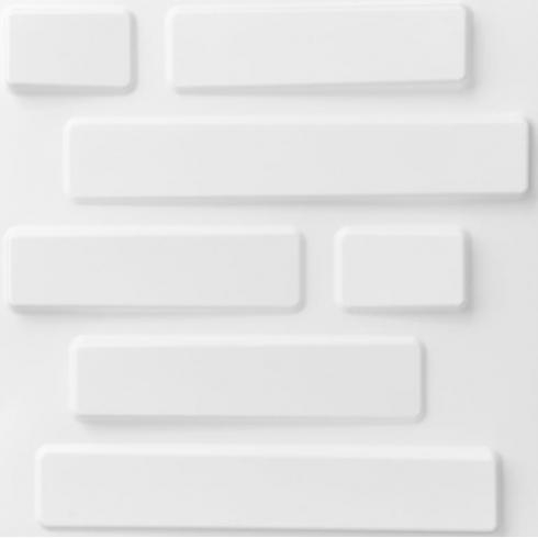 Bricks 3D Wallart Contemporary Wallpaper | White 3D Wall Paper With Regard To White 3D Wall Art (Image 9 of 20)