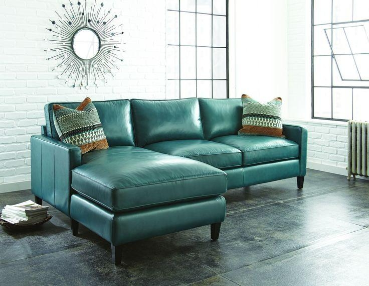 Brilliant Blue Leather Sectional Sofa – Interiorvues With Blue Leather Sectional Sofas (Image 6 of 20)