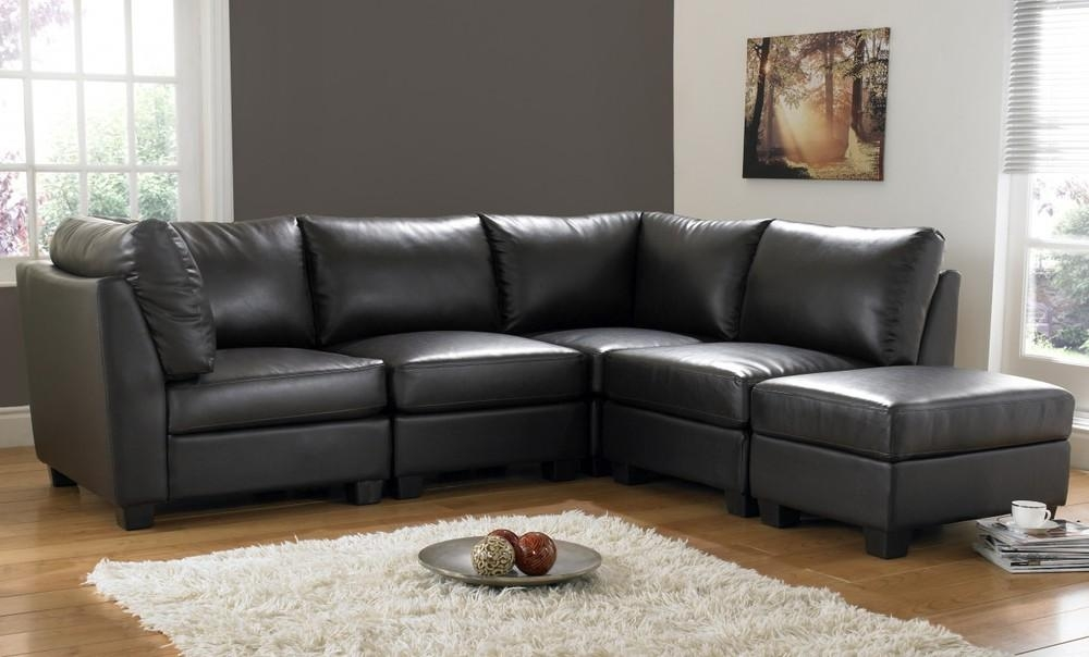 Brilliant Microfiber Leather Sofa With Microfiber Leather Within Black Corner Sofas (View 20 of 20)