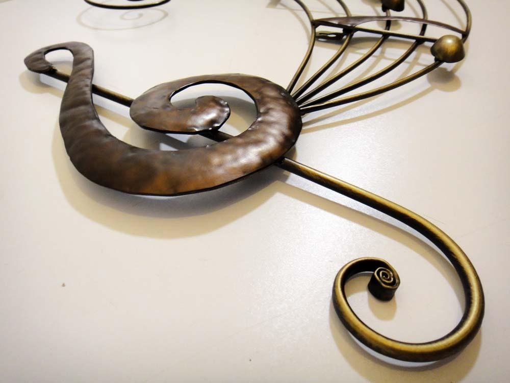 Brilliant Wall Art Contemporary Hanging Metal Decor Sculpture Within Metal Music Wall Art (Image 6 of 20)
