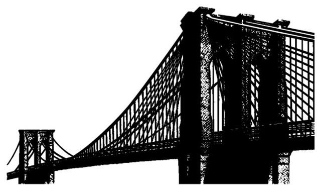 Brooklyn Bridge Wall Decal – Contemporary – Wall Decals – With Regard To Brooklyn Bridge Wall Decals (Image 6 of 20)