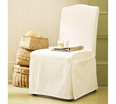Brooks Multicolor Slipcovered Chair Intended For Pottery Barn Chair Slipcovers (View 6 of 20)