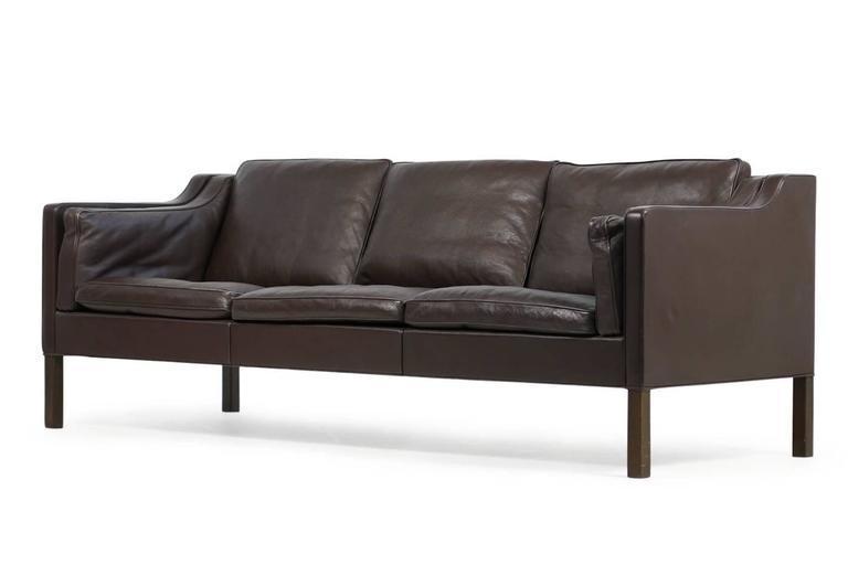 Brown 1960S Børge Mogensen Leather Sofa Mod. 2213 Danish Modern Regarding Danish Leather Sofas (Photo 18 of 20)