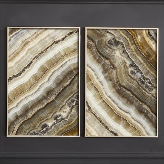 Brown Agate Framed Wall Art In Brown Framed Wall Art (Image 8 of 20)