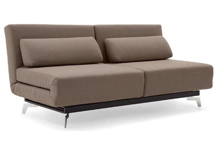 Brown Contemporary Convertible Sofa Bed | Apollo Bark | The Futon Shop With Regard To Convertible Futon Sofa Beds (Image 7 of 20)
