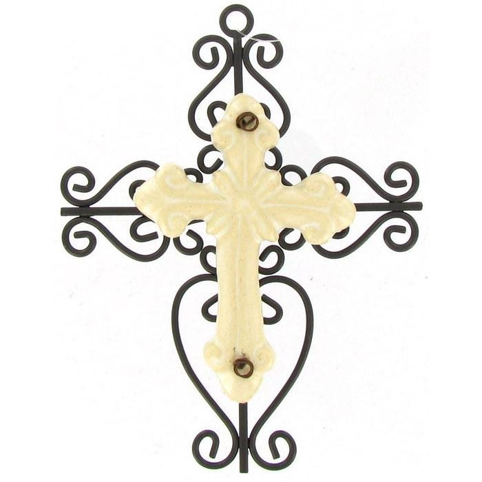 Brown & Cream Cross Metal Wall Decor | Hobby Lobby | 39035 Regarding Cream Metal Wall Art (Image 8 of 20)