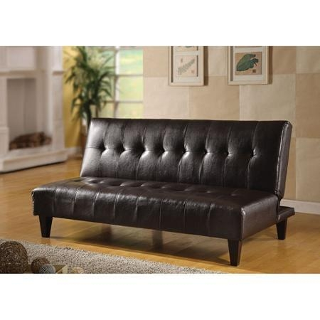 Brown Faux Leather Futon | Roselawnlutheran Intended For Faux Leather Futon Sofas (Image 13 of 20)