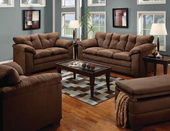 Brown Microfiber Sofa | Microfiber Sofa And Loveseat Set Pertaining To Simmons Microfiber Sofas (Image 8 of 20)