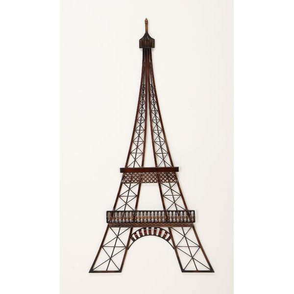 Brown Tones Eiffel Tower – Transportation Metal Wall Art For Eiffel Tower Metal Wall Art (Image 7 of 20)