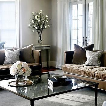 Brown Velvet Sofa Design Ideas Within Brown Velvet Sofas (View 4 of 20)