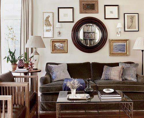 Brown Velvet Sofa – Transitional – Living Room – C. W (Image 4 of 20)