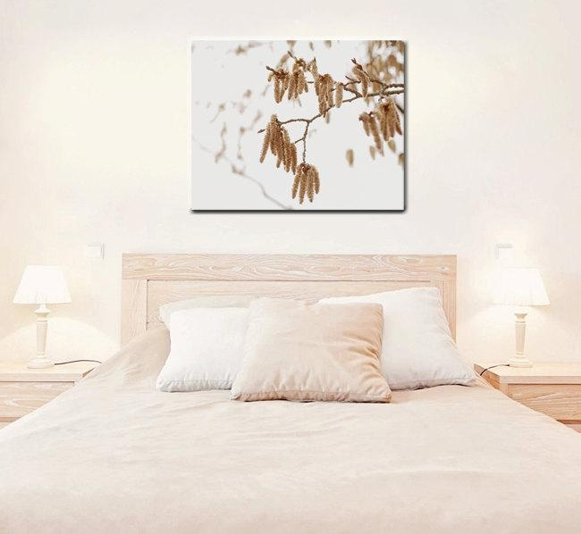 Brown White Canvas Art | Tree Branch Art | Large Canvas Wall Decor Inside Large White Wall Art (Image 9 of 20)