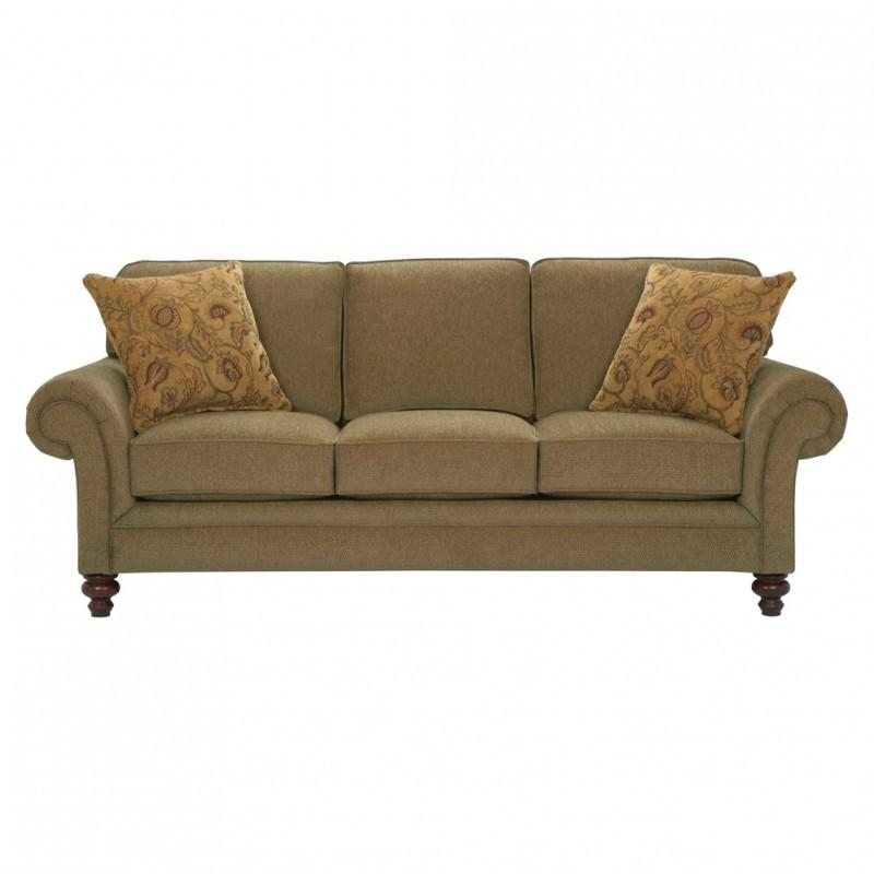 Broyhill Larissa Sofa In Green Bh 6112 3Q With Regard To Broyhill Larissa Sofas (Image 10 of 20)