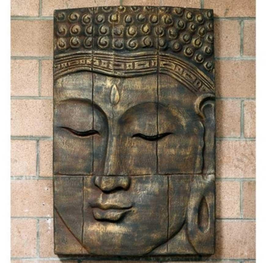 Buddha Outdoor Wall Art With Large Relief | Home Interior & Exterior Regarding Large Garden Wall Art (View 8 of 20)