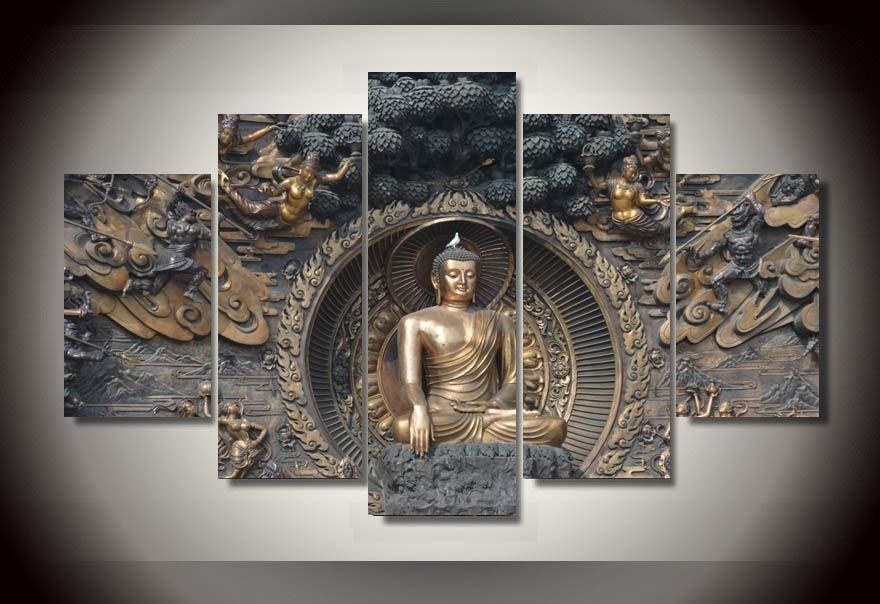 Buddha Wall Art | Roselawnlutheran With Silver Buddha Wall Art (Image 8 of 20)