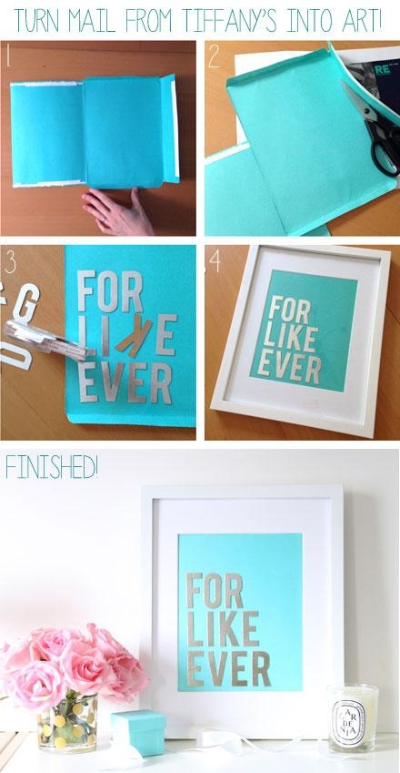 Budget Diy: Make Chic Wall Art With Your Tiffany & Co (View 3 of 20)