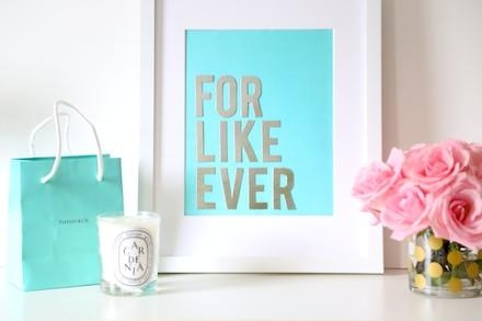 Budget Diy: Make Chic Wall Art With Your Tiffany & Co (Image 10 of 20)