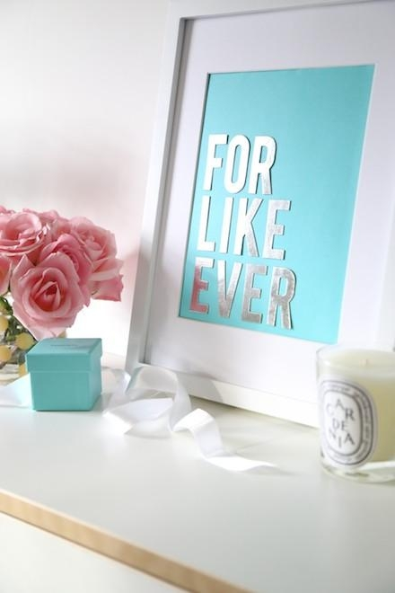 Budget Diy: Make Chic Wall Art With Your Tiffany & Co (View 16 of 20)
