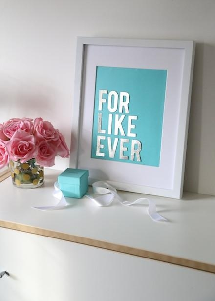 Budget Diy: Make Chic Wall Art With Your Tiffany & Co (Image 11 of 20)