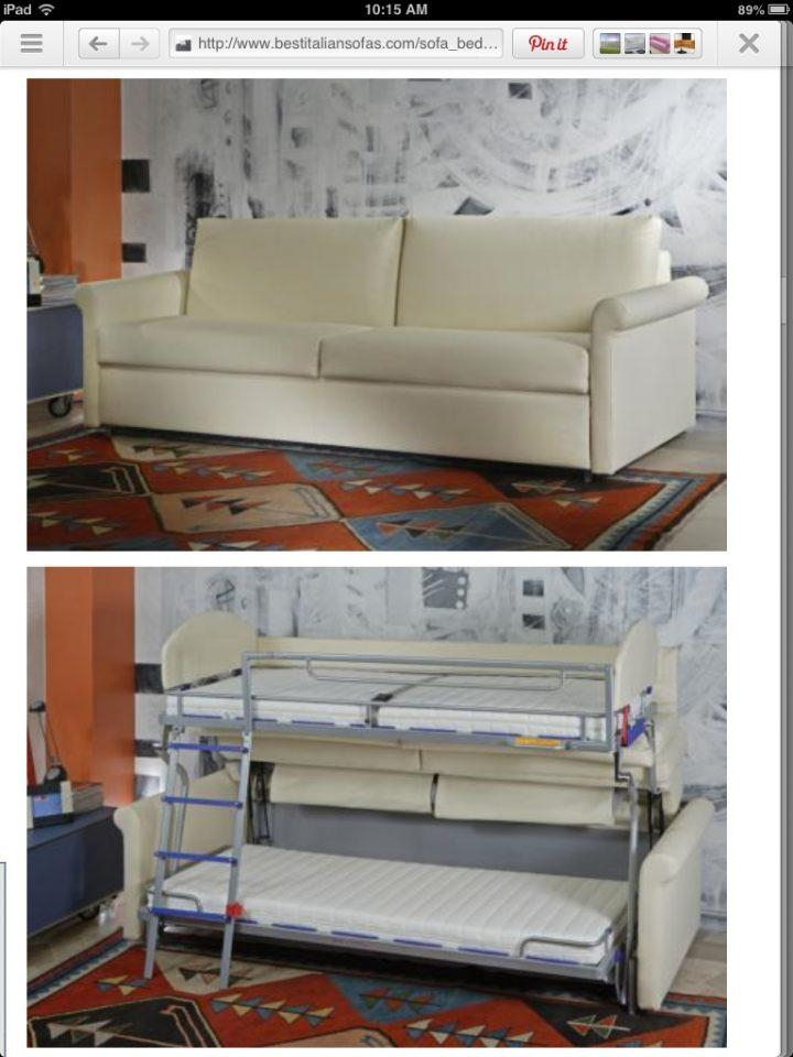 Bunk Beds : Fold Out Couch Bunk Bed Sofa Bunk Bed Space Saving In Sofas Converts To Bunk Bed (Image 6 of 20)