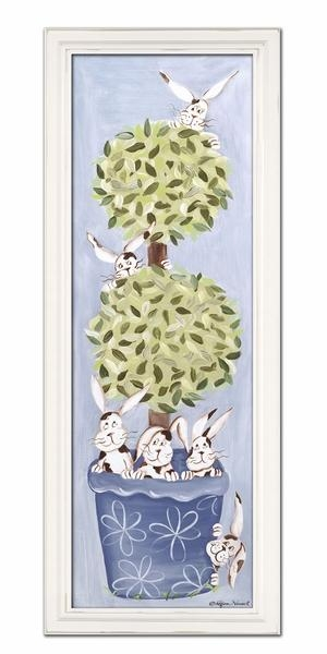 Bunny Topiary Wall Art – Green Frame Inside Topiary Wall Art (View 12 of 20)