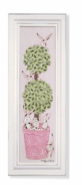 Bunny Topiary Wall Art – Green Frame Throughout Topiary Wall Art (View 20 of 20)