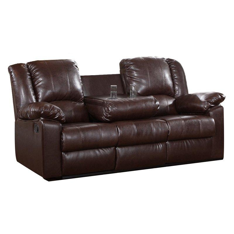 Burgas Reclining Sofa With Drop Down Cup Holder | Hayneedle In Sofas With Cup Holders (Image 4 of 20)