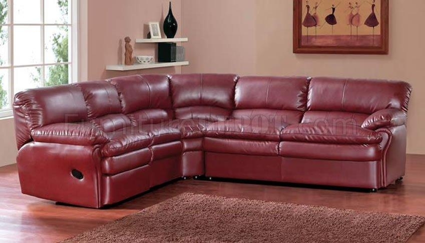Burgundy Leather Sectional Sofa Inside Burgundy Sectional Sofas (View 5 of 20)